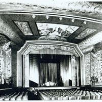The interior of the Uptown Theater in its heyday.